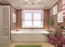 Classic bathroom for girls Royalty Free Stock Photography