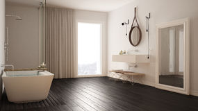 Classic bathroom, modern minimalistic interior design. Classic bathroom, modern minimalistic interior royalty free stock photography