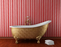 Classic bathroom with old bathtub Royalty Free Stock Photo