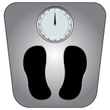Classic bathroom scale Royalty Free Stock Photography