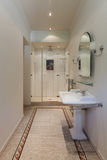 Classic bathroom with shower Royalty Free Stock Image