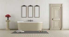 Classic Bathroom with stone bathtub Stock Photos