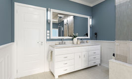 Classic bathroom with wash Royalty Free Stock Photo