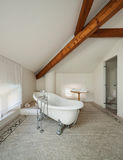 Classic bathroom with  white tub Royalty Free Stock Photography