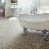 Classic bathroom with  white tub Royalty Free Stock Images