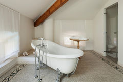 Classic bathroom with  white tub Royalty Free Stock Image