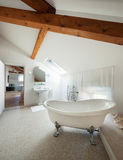 Classic bathroom with  white tub Stock Image