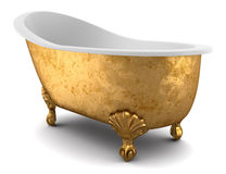 Classic bathtub isolated on white background Stock Photography