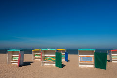 Classic beach chairs Royalty Free Stock Photos