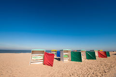 Classic beach chairs Royalty Free Stock Image
