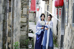 Classic beauty in China, confidante in Hanfu dress Royalty Free Stock Photography