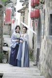 Classic beauty in China, confidante in Hanfu dress Stock Image