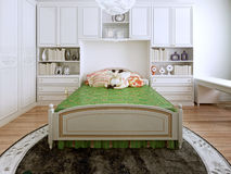 Classic bedchamber trend Stock Images