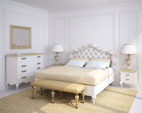 Classic bedroom interior. Royalty Free Stock Photos