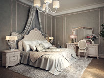 Classic bedroom interior. 3d images Stock Photo