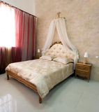 Classic bedroom in showroom. Classic bedroom interior in showroom Stock Photography