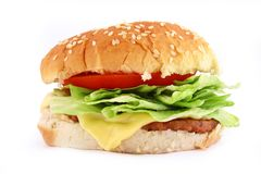Classic Beef Burger Royalty Free Stock Photos