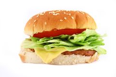 Classic Beef Burger Royalty Free Stock Images