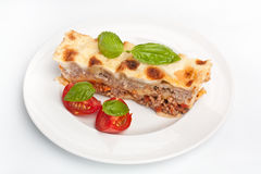 Classic Beef Lasagna Slice Stock Photo