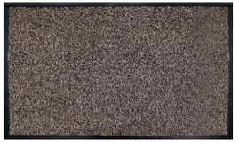 Classic Beige black grey welcome door mat with black border. In White Background royalty free stock image