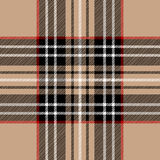 Classic beige tartan Royalty Free Stock Photography