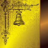 Classic bell. Illustration for seasonal and holiday background Royalty Free Stock Photo