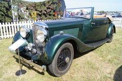 Classic Bentley car. WEST SUSSEX, ENGLAND. SEPTEMBER 2012: Classic Bentley car at the Goodwood Revival festival on 15th September 2012; Goodwood, West Sussex Stock Image