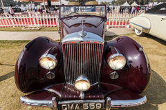 A Classic 1948 Bentley Mark VI vintage car (MK6). New Delhi, India - February 6, 2016: A classic 1948 2-door vintage car Bentley Mark VI on display at the 21 Gun Royalty Free Stock Image