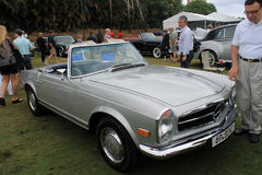 Classic benz sl front quarter view Stock Images