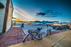 Classic bicycle on the beach Royalty Free Stock Image