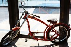 Classic Bicycle look like Haley Davidson Royalty Free Stock Photo