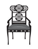 Classic biedermeier style furniture. Chair throne with rich ornaments. English carved ornaments furniture. Vector Victorian exquisite Style furniture. Vector Stock Images