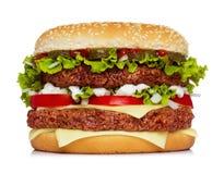 Classic big hamburger Royalty Free Stock Photo