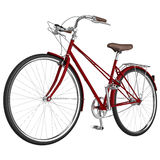 Classic bike frame. 3D graphic Royalty Free Stock Images