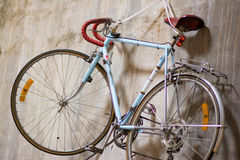 Classic bike hang on the wall Stock Photo