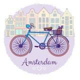 Classic Bike Illustration Stock Image