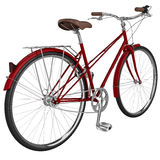 Classic bike with luggage. 3D graphic Stock Image
