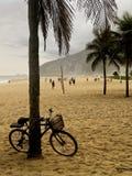 Classic bike in Rio De Janeiro Ipanema beach Stock Images