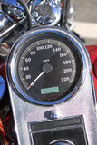 Classic Bike Speedometer. Detail from a bike Speedometer in a summer day Royalty Free Stock Photos