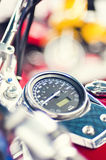 Classic bike speedometer Royalty Free Stock Photo