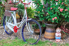 Classic bikes parked. In the garden Royalty Free Stock Photography