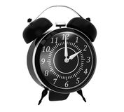 Classic black alarm clock Royalty Free Stock Photography