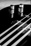 Classic black bass guitar Royalty Free Stock Image