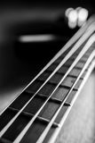 Classic black bass guitar Stock Photo