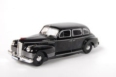 Classic black car. On white background Royalty Free Stock Photos