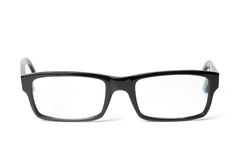 Classic black eye glasses front Stock Photo