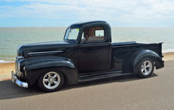 Classic Black Ford pickup truck Royalty Free Stock Photos