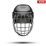 Classic black Goalkeeper Hockey Helmet isolated on Stock Image