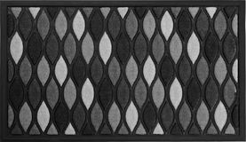 Classic Black, Grey and white rubber doormat with black border. Isolated on a White Background stock images