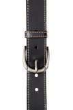 Classic black leather belt Royalty Free Stock Image